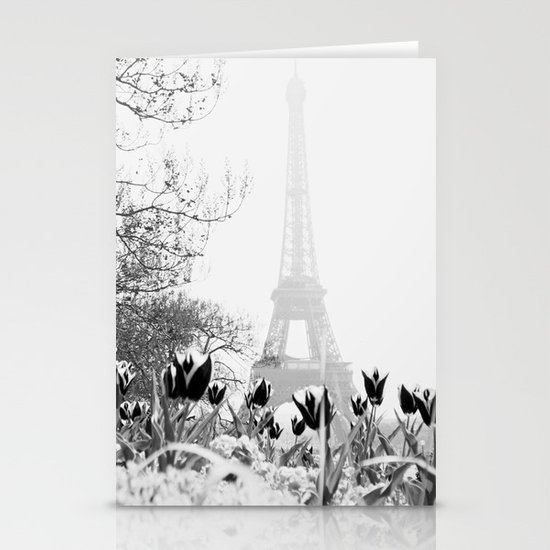 Paris Black & White Stationery Cards