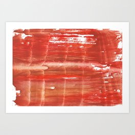 Rowan red stained watercolor texture Art Print