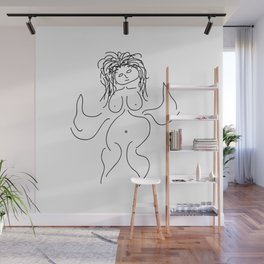 Flying Queen Illustration Wall Mural