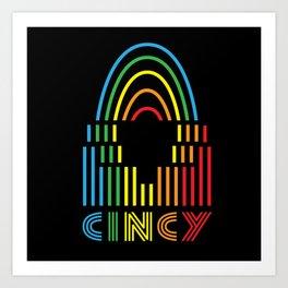 Cincy Pride! Art Print