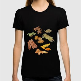 Watercolor Illustration of a set of spices T-shirt