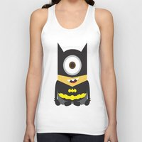 superheros Tank Tops featuring Minion - Superheros B by Antonia Elena