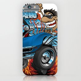 Classic '69 American Sports Car Cartoon iPhone Case