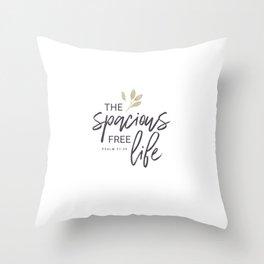 The Spacious Free Life (Gold) Throw Pillow