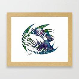 Siamese fighting fish themed artwork Framed Art Print