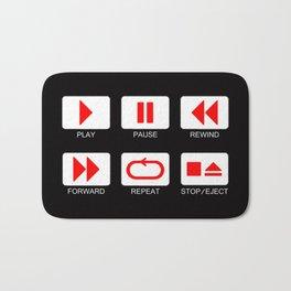 Music Player Button Bath Mat