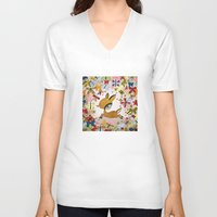 butterflies V-neck T-shirts featuring butterflies by Asja Boros
