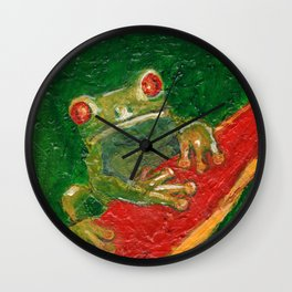 Red Eyed Frog Wall Clock