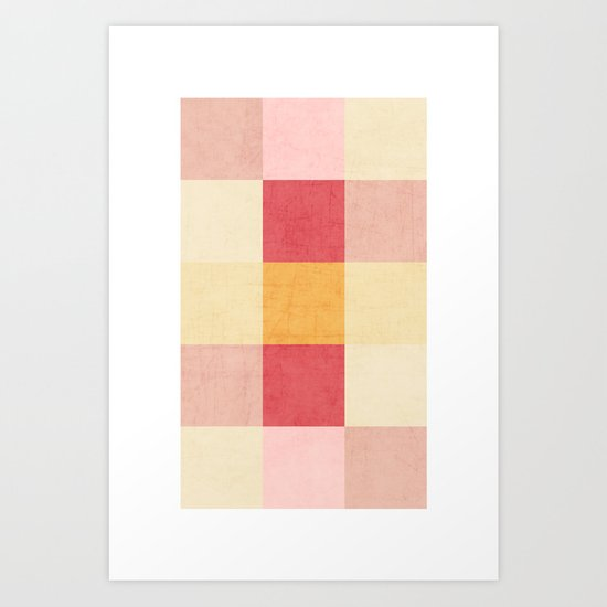 color block sweets Art Print