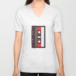 Compact Cassette Unisex V-Neck