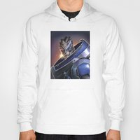 garrus Hoodies featuring Garrus Vakarian Portrait - Mass Effect by MarcoMellark