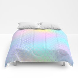 Rainbow Mermaid Abstraction Comforters
