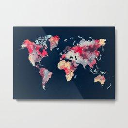 world map 69 Metal Print