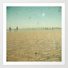 Beach Days Art Print