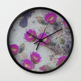 Cactus Bloom Carpet Wall Clock