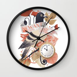 I Want The World To Stop Wall Clock