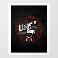 winchester Art Prints featuring Winchester & Sons by Manny Peters Art & Design