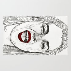 Kate with the Red Lips Rug