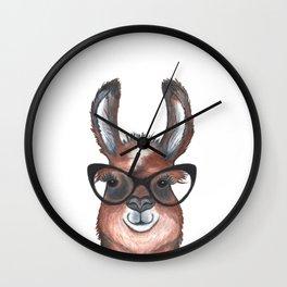 Hipster Llama Wall Clock