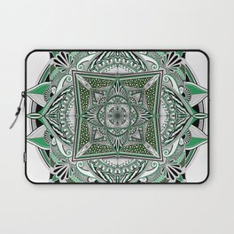 Green mandala Laptop Sleeve