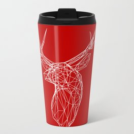3D Stag Trophey Head Wire Frame Metal Travel Mug