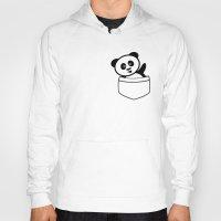 pocket Hoodies featuring Pocket panda by Jaxxx