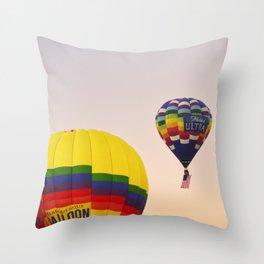 Balloon Rise Throw Pillow
