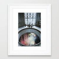 fireworks Framed Art Prints featuring Fireworks by John Turck