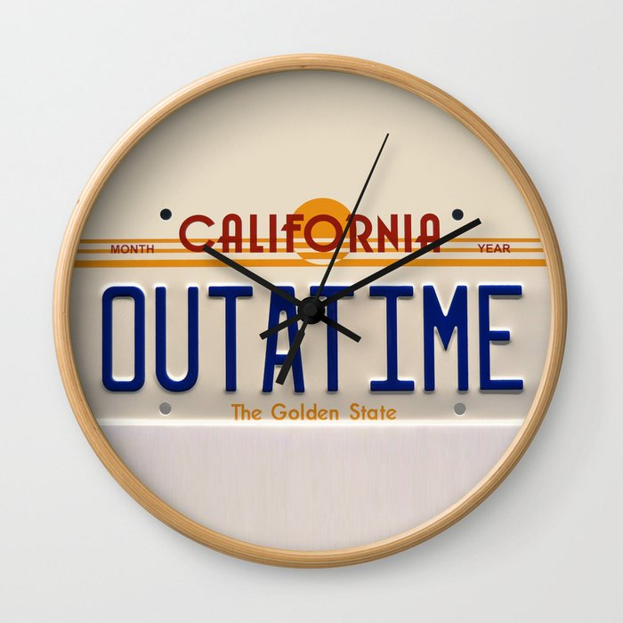 California Out A Time Wall Clock
