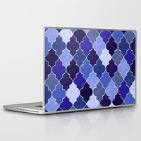 morocco Laptop & iPad Skins featuring Morocco Blue by Jacqueline Maldonado