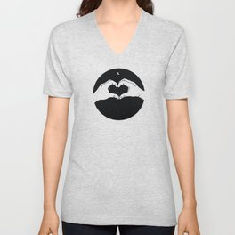 Heart made with hands for Valentine's Day Unisex V-Neck