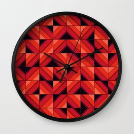 Fake wood pattern Wall Clock