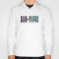 san diego Hoodies featuring San Diego by Tonya Doughty