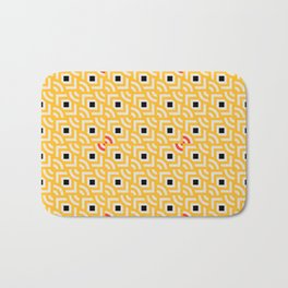 Round Pegs Square Pegs Yellow Bath Mat