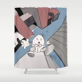 Humpty Dumpty's Free Fall Shower Curtain