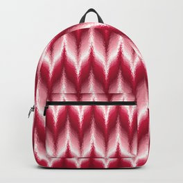 Bargello Pattern in Red and White Backpack