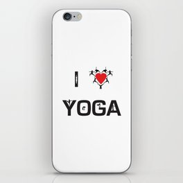 I heart Yoga iPhone Skin