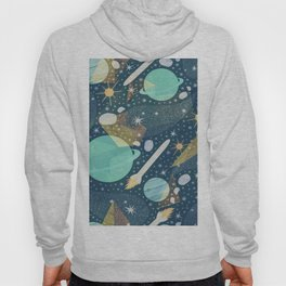 Colorful Abstract Space Background Pattern Hoody