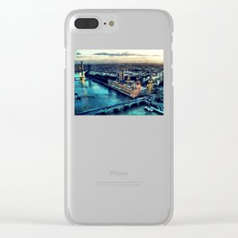 London watercolor Clear iPhone Case