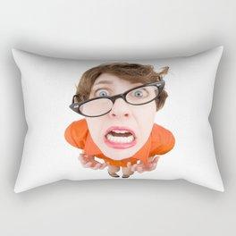 Stressed Out Fisheye Geek Rectangular Pillow