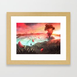 Autumn Trail Framed Art Print