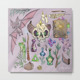 Witchy Stuff Metal Print