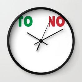Torino Italy flag holiday gift Wall Clock