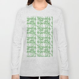 Bamboo Rainfall in White/Sullivan Green Long Sleeve T-shirt