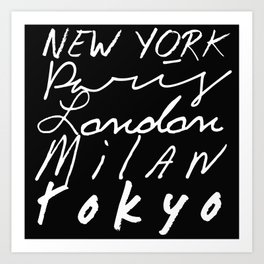 Fashion Capitals of the World Art Print
