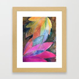 Lotus Dreaming in Pink Framed Art Print