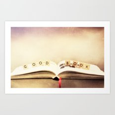 Good book Art Print