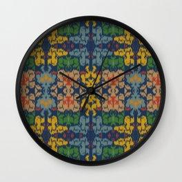 Kentucky Ikat (Blue) Wall Clock