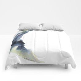 Crescent Moon Watercolor Comforters