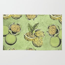 Walnuts Faded Lime Color Rug